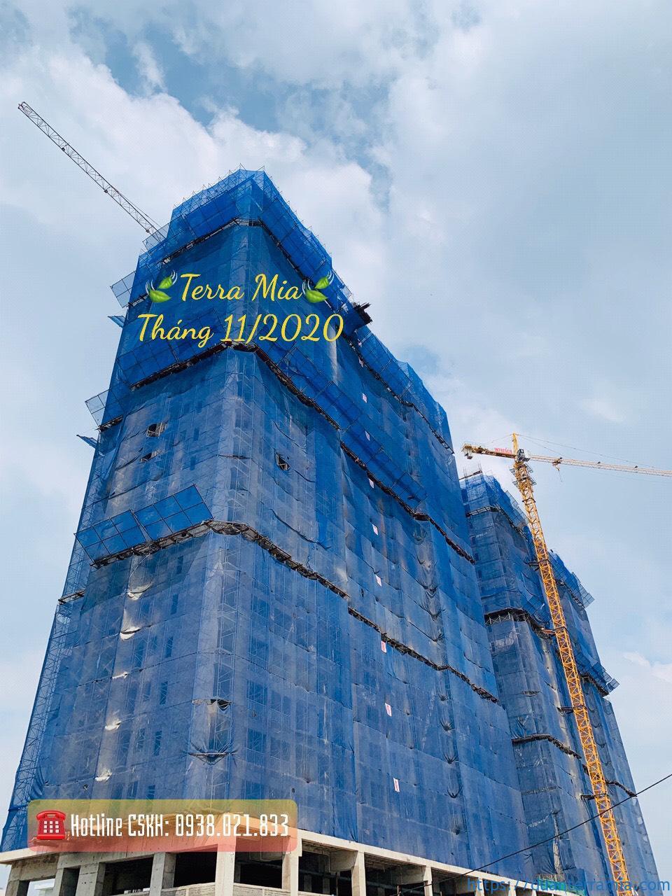 Tiến độ căn hộ Terra Mia Tháng 11.2020