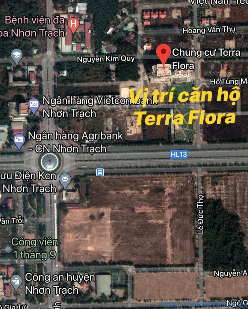 Vị trí căn hộ Terra Flora