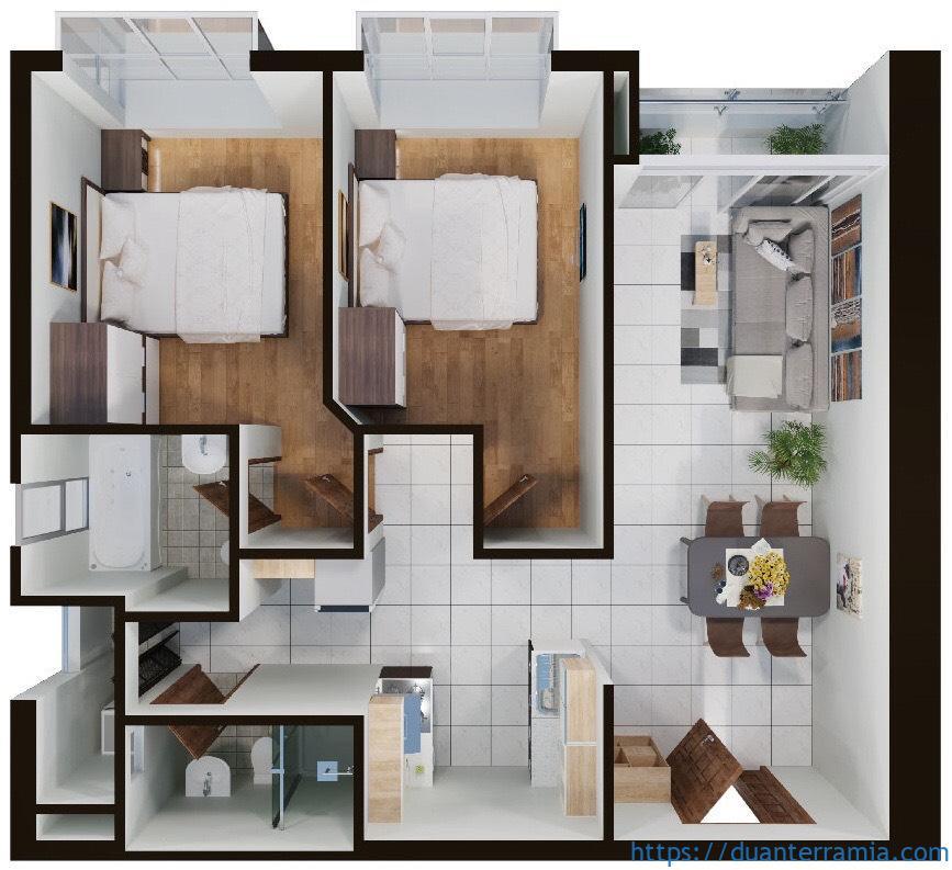 cho thuê căn hộ Terra Mia 1