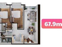 Tìm hiểu các loại diện tích đang có tại căn hộ Terra Mia