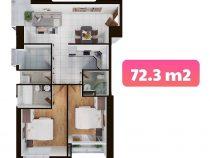 Terra MiA – Review căn hộ Loại C – DT 72.3m2 Hướng view trực diện sông