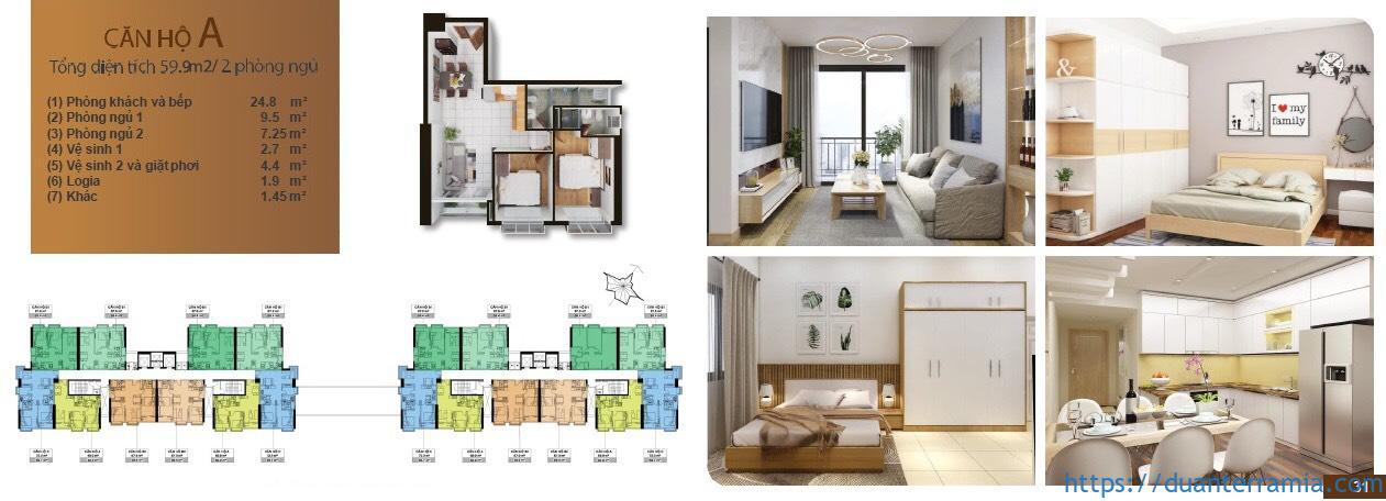 Terra Mia thiết kế căn hộ Loại A