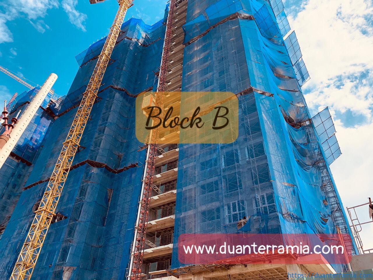 Tien do xay dung Block B Terra Mia Thang 12.2020