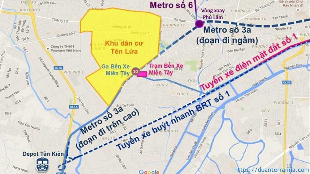 Dự án tuyến Metro 3A nối dự án Terra Mia