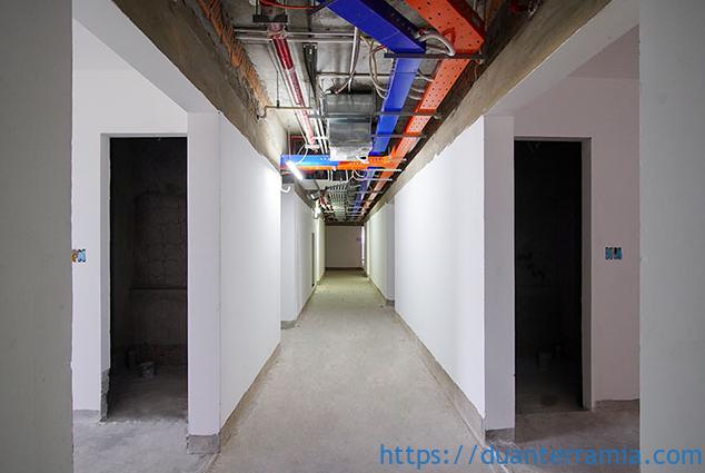 Khu vực hành lang chung - Tiến độ dự án Terra Mia mới nhất Tháng 02.2021