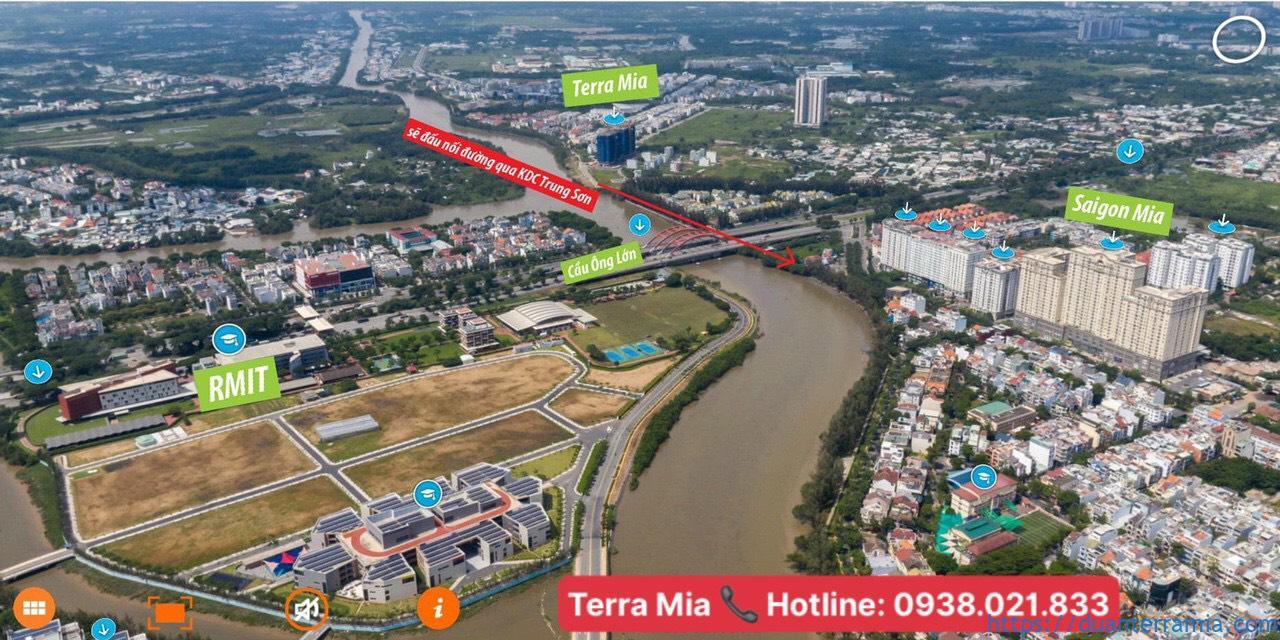 Vị trí thực tế căn hộ Terra Mia. Ảnh Chủ đầu tư Terra Mia
